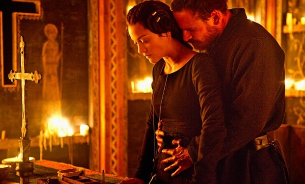 "Michael Fassbender e Marillon Cotillard in ""Macbeth"""