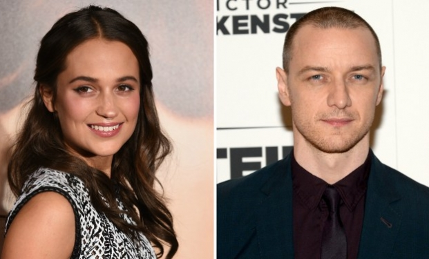 Alicia Vikander e James McAvoy
