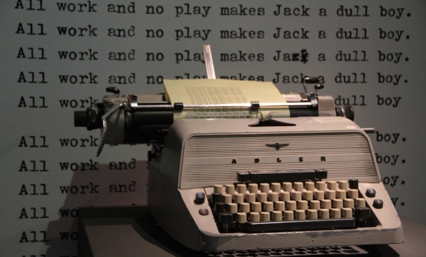 "La mitica frase dattiloscritta da Jack Nicholson in ""Shining"""