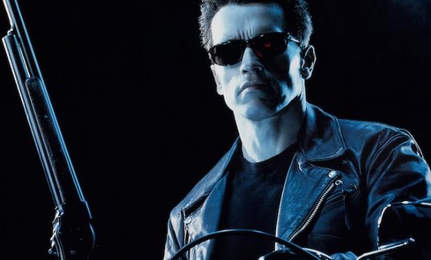 Arnold Schwarzenegger nei panni del cyborg T-800