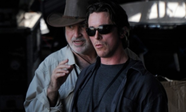 Terrence Malick e Christian Bale sul set di Knight of Cups